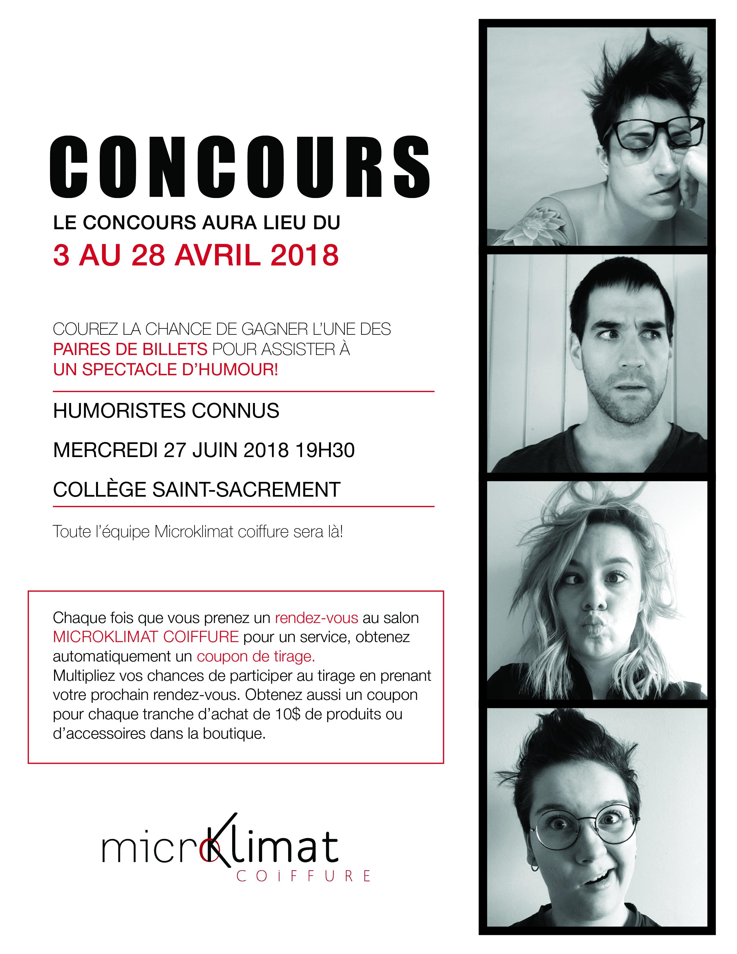 Coiffure, Microklimat, Vieux-Terrebonne, concours
